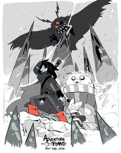 Here'S some great fanart of an adventure time series set in the future by Adventure Time Finn, Cartoon Network Adventure Time, Character Art, Character Design, Marceline And Bubblegum, Adventure Time Wallpaper, Jake The Dogs, Cartoon Art, Art Reference