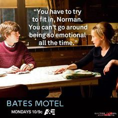 Fan Art of Bates Motel Quotes for fans of Bates Motel 34556284 Bates Motel Tv Show, Bates Motel Season 4, Lead Someone On, Dylan Massett, Norma Bates, Freddie Highmore, Vera Farmiga, Boy Best Friend, Tv Quotes