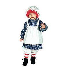 Girls Raggedy Ann Halloween Costume Size: S