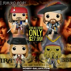 http://www.hobby-galaxy.com/funko-pop-disney-pirates-of-the-caribbean-captain-jack-sparrow-barbossa-elizabeth-swann-davy-jones-vinyl-figures/  #pirate #pirates #piratesofthecaribbean #pirateship #jacksparrow #captainjacksparrow #barbossa #blackbeard #davyjones #elizabethswann #johnnydepp #keiraknightley #geoffreyrush #orlandobloom #willturner #deadmanschest #atworldsend #onstrangertides #deadmentellnotales #funkopops #designervinyl #vinylfigure #actionfigures #toy #toys #funko