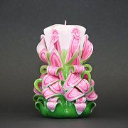 EveCandles Colorful Decorative Carved Candles by EveArtCandles