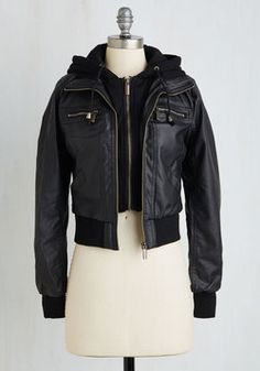Edgy All Over Again Jacket. New day, new opp to look sleek n stylish in this black jacket! #black #modcloth