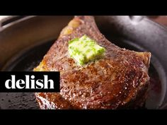 Low Unwanted Fat Cooking For Weightloss We'd Call This Anybody Steak. In any case, It Looks Korean Bbq Recipe, Date Night Recipes, Meat Shop, Steak Recipes, Yummy Recipes, Recipies, Dinner Dishes, Main Dishes, Herb Butter