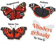 Een Nederlands haakpatroon van vlinders. Wil jij dit patroon met vlinders ook haken? Lees dan verder over het haakpatroon vlinders.
