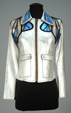 ID 644-160 EAST WEST MUSICAL INSTRUMENTS METALLIC LEATHER JACKET, 1960s. - whitakerauction