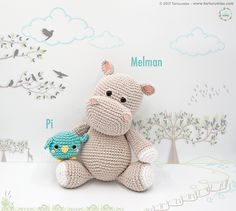 Amigurumi Pattern: The hippopotamus Melman and his friend Pi – Tarturumies