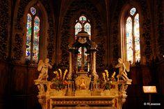Interior de la iglesia de San Martín, Biscarrosse, Landas #Francia #France