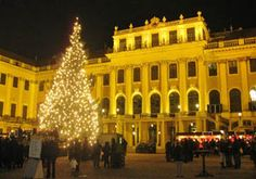 Christmas Market at Schoenbrunn Palace, Vienna Austria, one if the best in Europe
