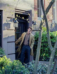 Canali silk organza coat, price on request. Fendi cotton‑mix suit, £1,080, and cotton/viscose polo shirt, £350. Ermenegildo Zegna Couture leather belt, £210