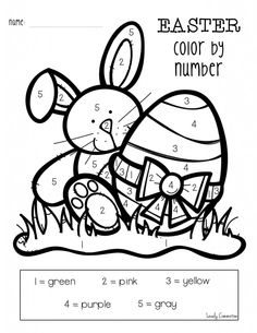 worksheets easter egg basket color by number classroom stuff pinterest easter worksheets. Black Bedroom Furniture Sets. Home Design Ideas