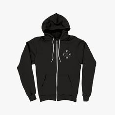 KYGO BLACK ZIPPED HOODIE I want it omg