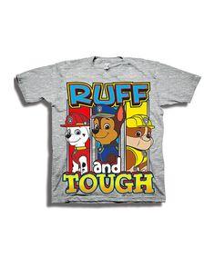 Look at this #zulilyfind! Heather Gray PAW Patrol 'Ruff and Tough' Tee - Toddler & Boys #zulilyfinds