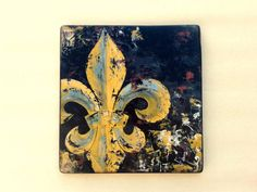 Original Fleur de Lis knife painting by DoodlesinBloom on Etsy