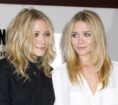 The Olsens show two perfect examples of textured cuts. This haircut works great for curly haired women AND for those who love a smooth and straight look.