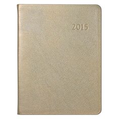 Graphic Image 2015 Leather Desk Diary Metallic Gold