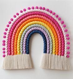 #rainbowwallart #rainbowwalldecor #macrameart #macramerainbow #makersmovements #kidsroomdecor #fiberart #playroomdecor #nurserydecor #handmadewithlove #baby2020 #babyshower #fiberrainbow #bohodecor #szivarvany #gyerekszobadekoráció #kézzelkészült #gyerekszoba #mutimitalkotsz #etsy Giant Butterfly, Handmade Items, Handmade Gifts, Etsy Seller, Rainbows, Kid Craft Gifts, Craft Gifts, Diy Gifts, Rainbow