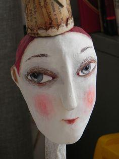 .Julliana Bollini...beautiful mixed media sculptures..Modigliani meets tim burton. Love!