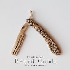 beard comb, this is amazing! Beard No Mustache, Moustache, Beard Grooming, Wet Shaving, Straight Razor, Beard Care, Hair And Beard Styles, Facial Hair, Bearded Men