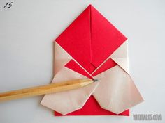 how to make Santa Claus in origami