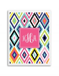 Free Printable Ikat Monogram Maker from @chicfetti
