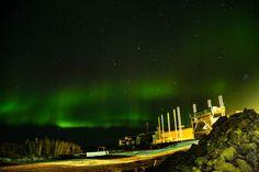 Lights over giant mine, Yellowknife, Oct 2012