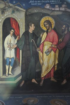 Sibiu Cathedral (The Road to Emmaus) by Fergal of Claddagh, via Flickr Life Of Jesus Christ, Jesus Lives, Road To Emmaus, Holy Holy, Byzantine Icons, Eucharist, Orthodox Icons, Claddagh, Christian Art