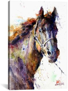 icanvasart Horse Iii By Dean Crouser #watercolorarts