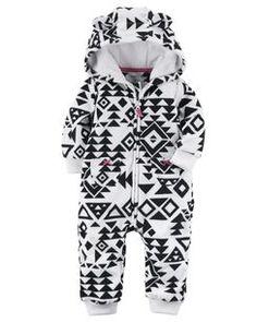 Hooded Aztec Print Jumpsuit