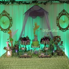 Gorgeous Tinkerbell birthday party! See more party ideas at CatchMyParty.com!