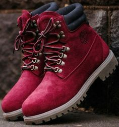 shoes timberlands burgundy womens shoes
