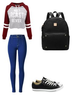 """Untitled #57"" by kyla-316758 on Polyvore featuring WithChic and Converse"