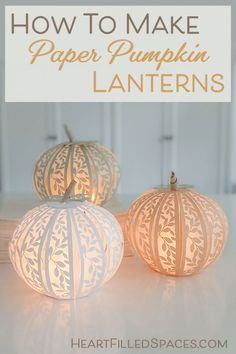 How To Make Paper Pumpkins For Your Fall Decor
