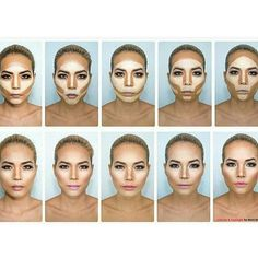 So she is wearing WAAAAYYYY too much makeup, but it's helpful for when applying bronzer/light contouring.