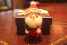 needle felting Santa Chrismas decoration by JunsHandmadeFactory, $23.99