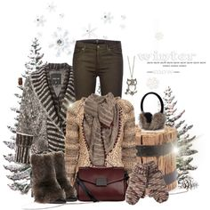 Winter Sweater by noconfessions, via Polyvore