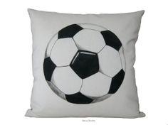 SALEDecorative Cushion  Soccer Football by Beccatextile on Etsy, €24.50