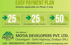 Easy Payment Plan- Scheme applicable on Phase 2 Only. Luxury Apartments 1460 sq.ft. Hurry Book Now.....
