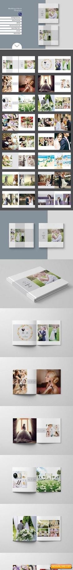 Wedding Album Template 888911 Free Download | Free Graphic Templates, Fonts, Logos & Icons, PSD, AI