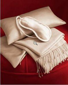 Luxe silk & cashmere travel set