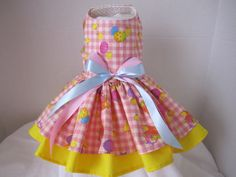 Dog Dress XS   Easter Chicks    By Nina's by NinasCoutureCloset, $30.00