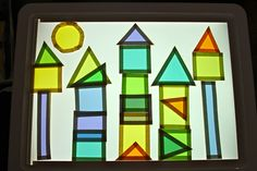 Holly's Arts and Crafts Corner: Sensory Light Table: Paul Klee Shape Activity
