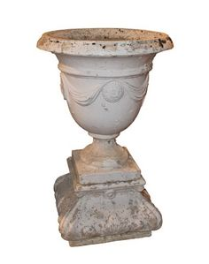 Tall Garden Urn on Socle