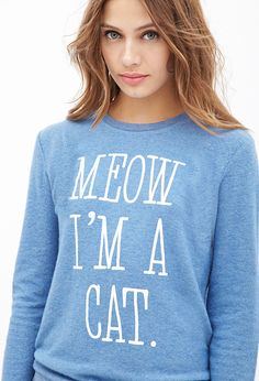 Cat Graphic Fleece Pullover #F21StatementPiece