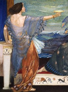 "How Theseus slew the Devourers of Men (detail). From ""The Heroes ..."" (1912) illustrated by William Russell Flint"