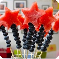Cute Watermelon Wands for 4th of July