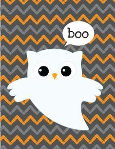 Free Halloween Printables - owl for Erin