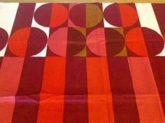 VTG fabric VTG Heals fabric material 60's 70's fabric 'Festival' Peter Perritt