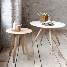 Table basse ronde bicolore PIN'S - 3 Suisses
