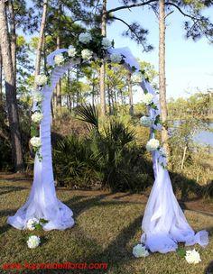 White Hydrangea Wedding Arch