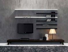 modern living room wall units furniture